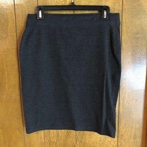 Dark Gray Stretchy Old Navy Pencil Skirt